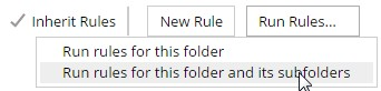 Run rules for the folder and sub-folders