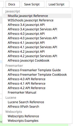 List of available documentation on javascript